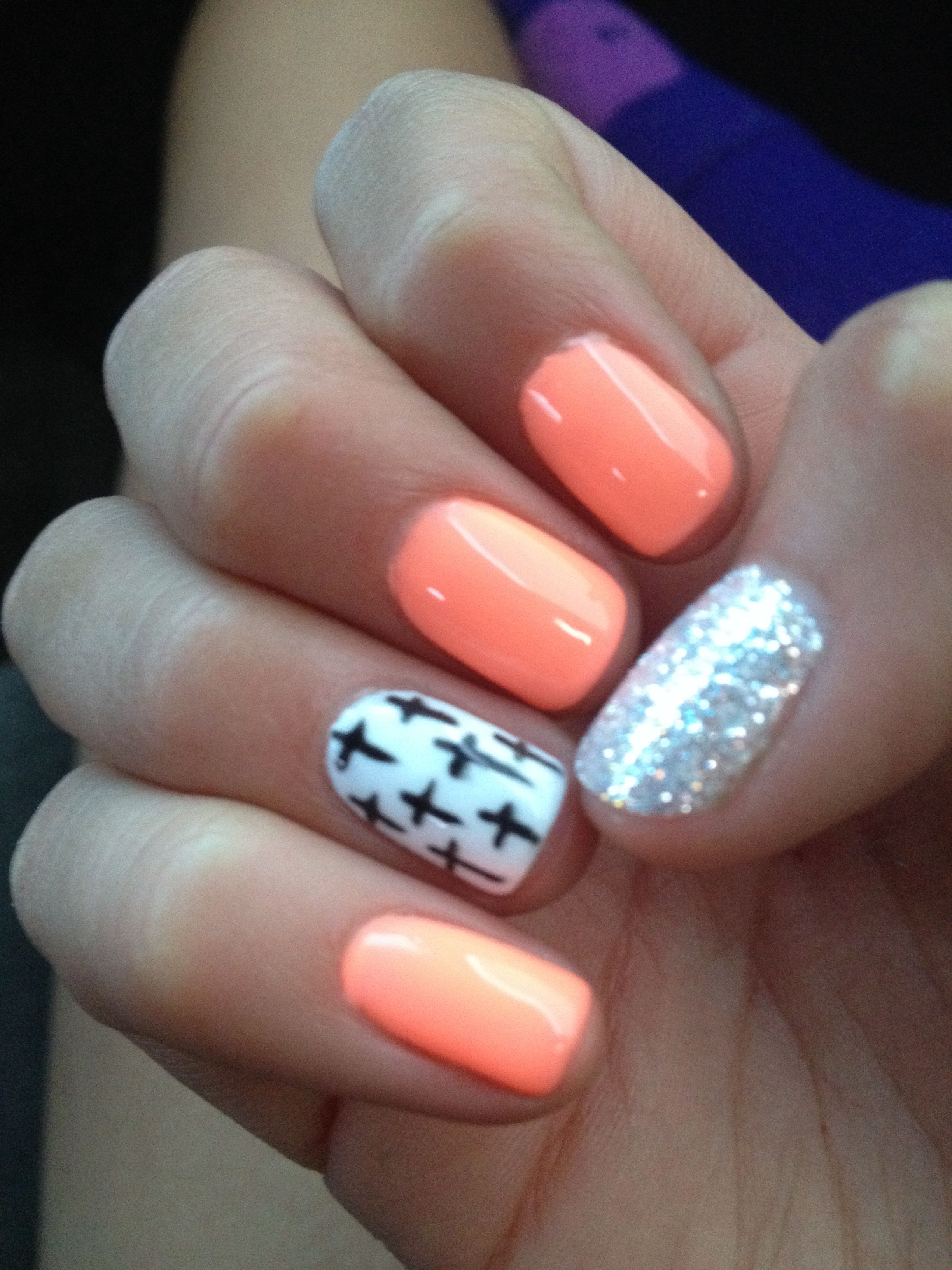 My gel nails | •Nails• | Pinterest | Ring finger, Finger and Peach