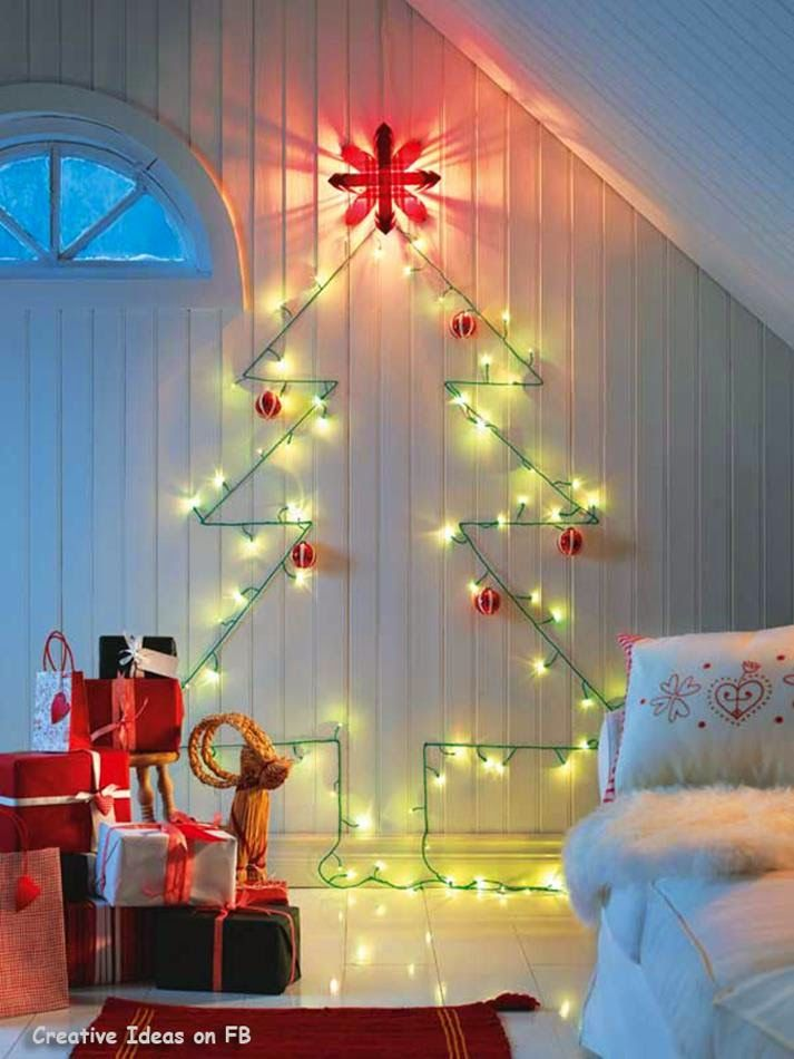 50 Trendy and Beautiful DIY Christmas Lights Decoration Ideas Wall
