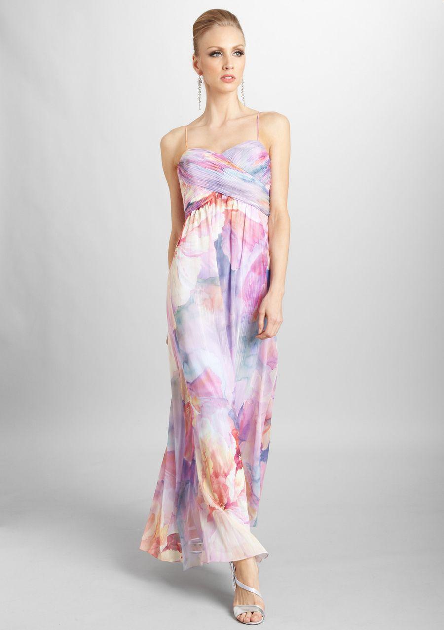 Latest Sales Ideeli Floral Print Maxi Dress Dresses Watercolor Dress [ 1275 x 900 Pixel ]