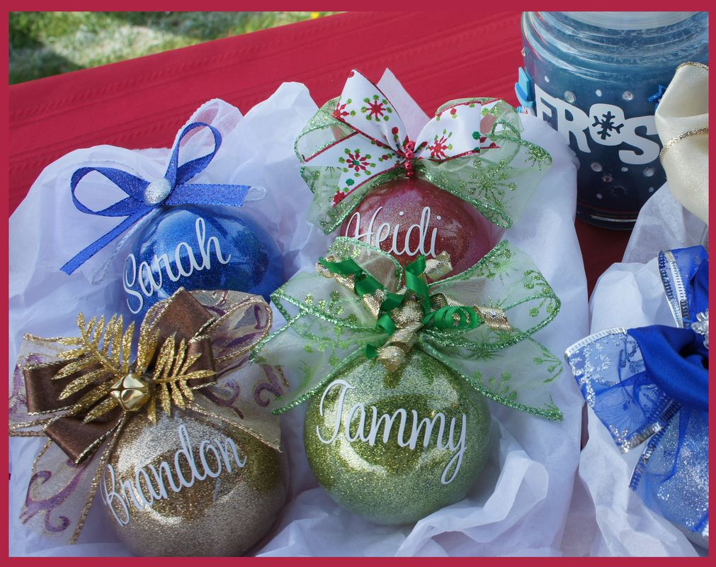 Ornaments made with names and colors of your choice! www