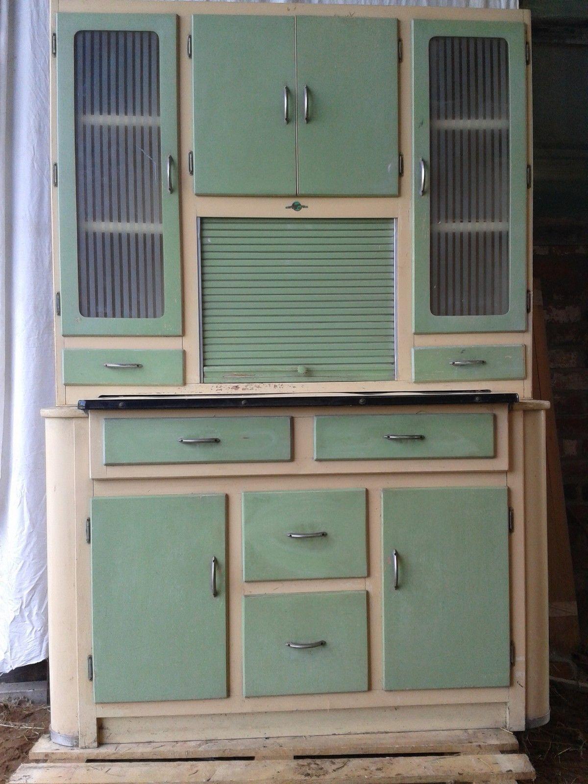 Vintage Retro Kitchenette Larder Pantry Welsh Dresser 1950 1960s Hygena Display Ebay Vintage Kitchen Retro Kitchen Refurbished Furniture