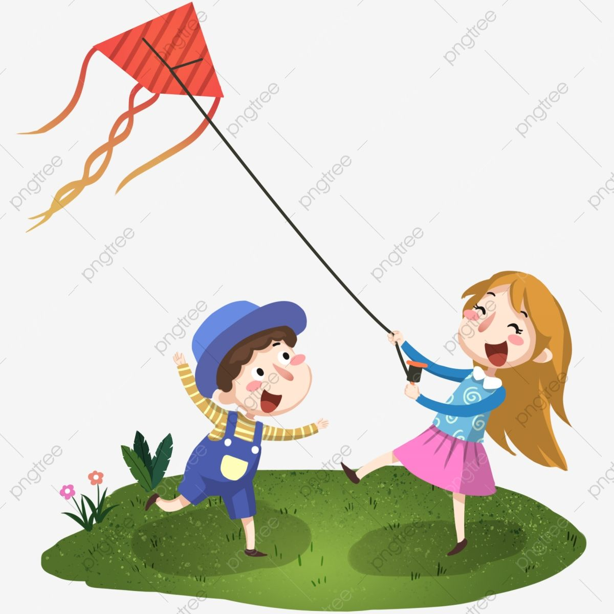 Happy Kids Brothers And Sisters Flying Kite Illustration Spring Kite Grass Png Transparent Clipart Image And Psd File For Free Download Happy Kids Kite Kite Flying