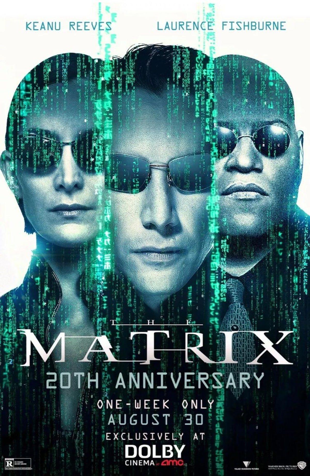 Matrix Movie Poster 20 Year Neo The Matrix Movie Matrix Movie