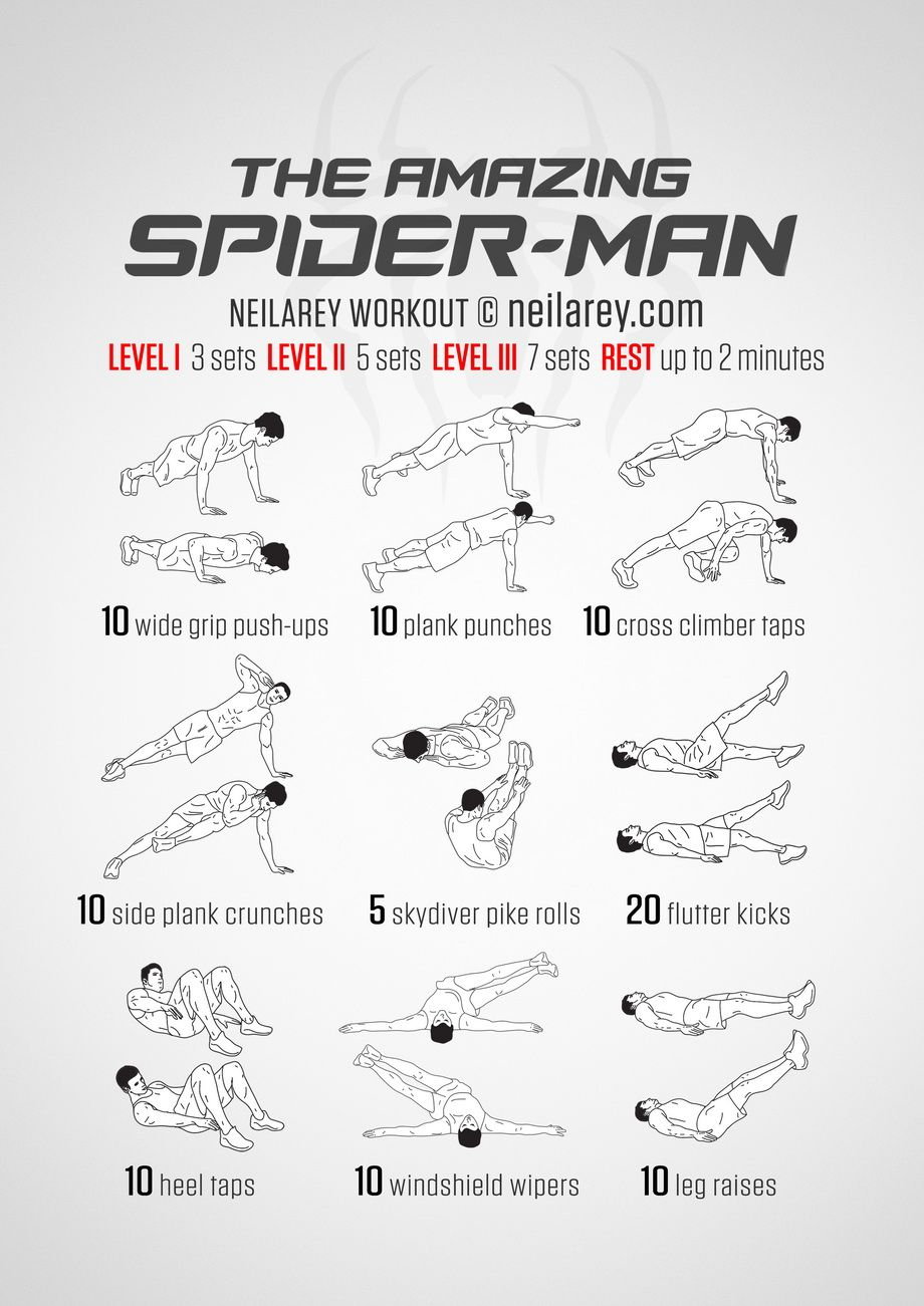 superhero workout do [ 920 x 1301 Pixel ]