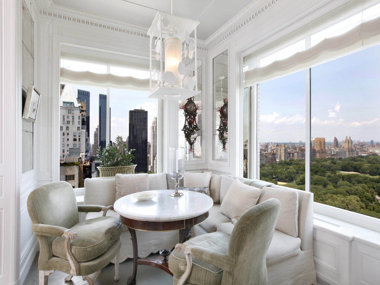 50 Central Park South Floor 33 New York Ny Condominium New York City Real Estate Luxury Homes Dream Houses Nyc Apartment Modern Breakfast Nook