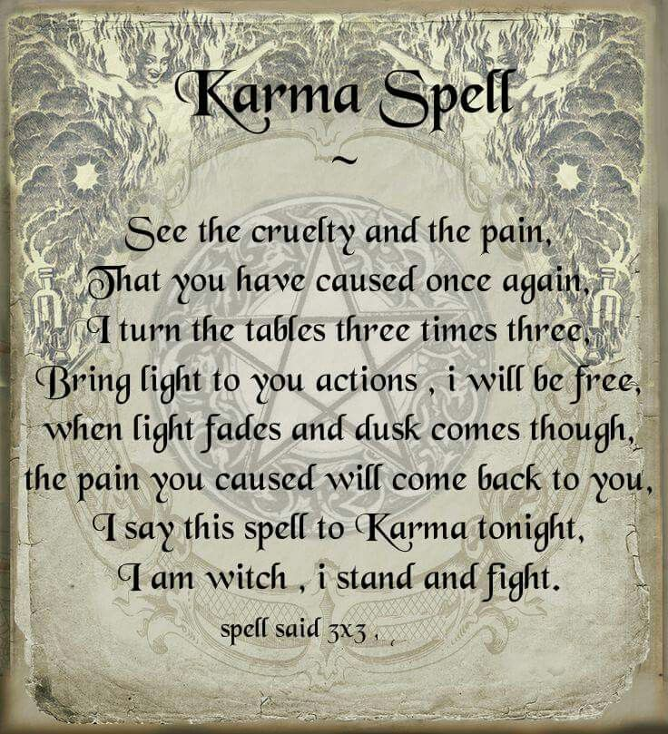 Sometimes It S Just Necessary Karma Spell Wiccan Spell Book Spells Witchcraft