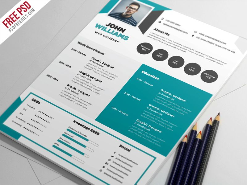 Digging this simple, clean resume design! For more resume design - Simple Format For Resume