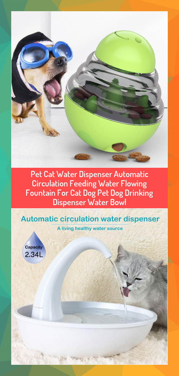 Pet Cat Water Dispenser Automatic Circulation Feeding Water Flowing Fountain For Cat Dog Pet Dog Drinking Dis In 2020 Interactive Dog Toys Dog Treat Dispenser Pet Dogs