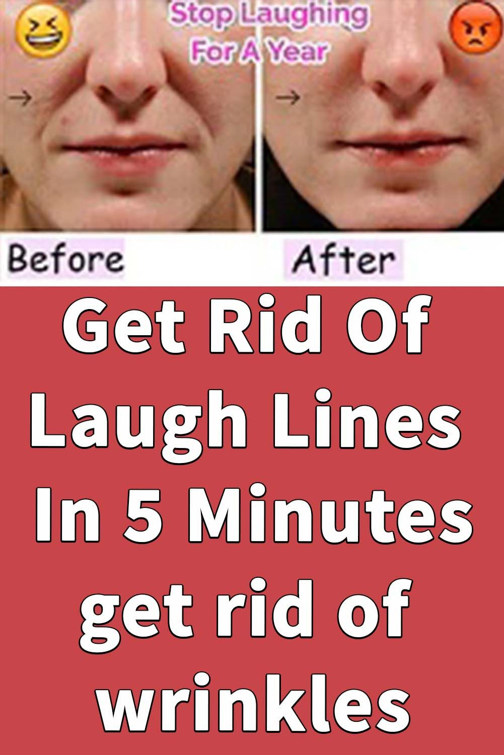 Get Rid Of Laugh Lines In 5 Minutes Face Care Routine Beauty Skin Care Routine Wrinkles