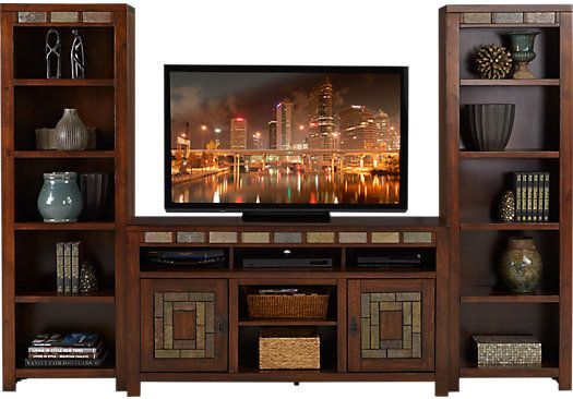 Bartlett II Cherry 3 Pc Wall Unit 99999 108W x 165D x 76H