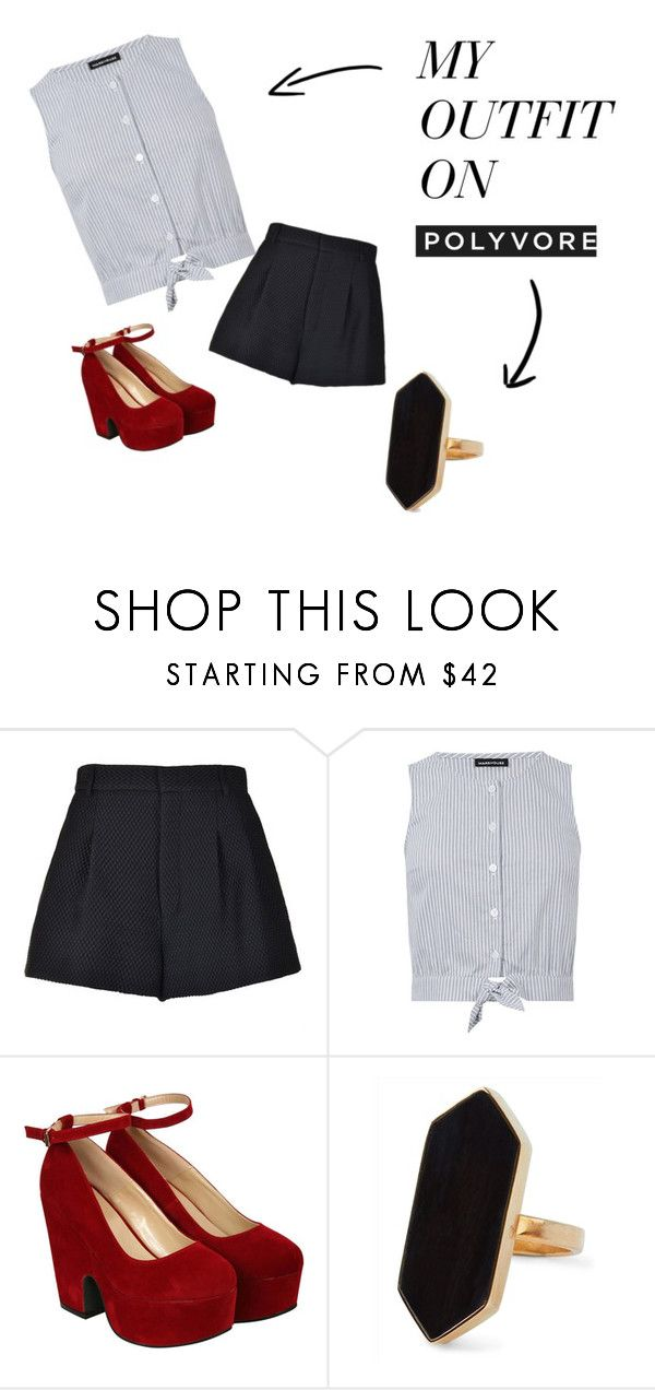 Outfit by mich-cl on Polyvore featuring moda, Warehouse, RED Valentino, Pilot and Jaeger