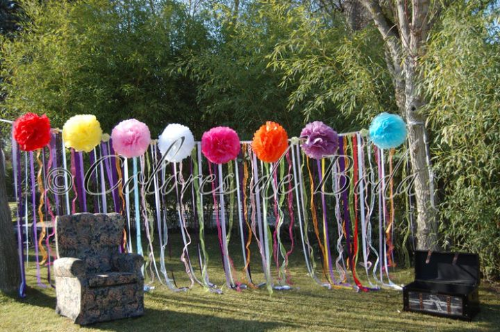 Cortina de lazos bodas hippies pinterest boda hippie for Lazos para cortinas
