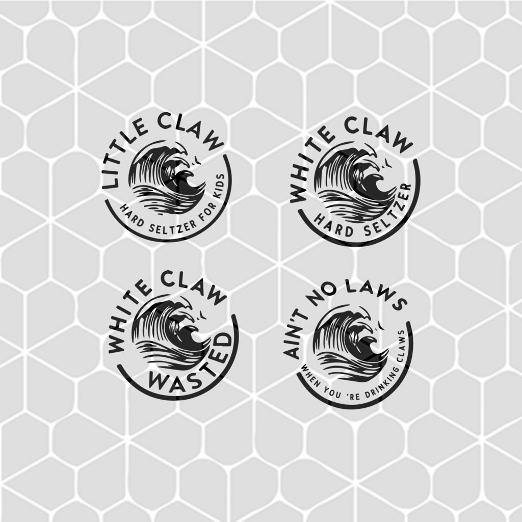 Little claw and white claw and ain't no laws SVG Files For