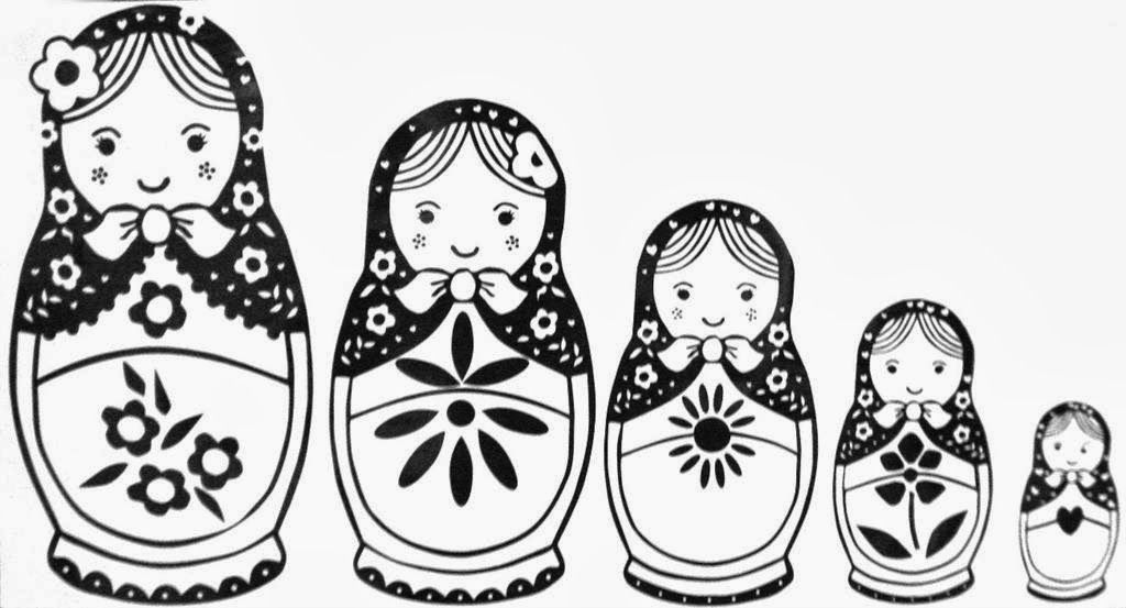 Coloring Pages Matryoshka Dolls Google Twit Tegninger