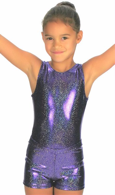 33f393fa69c43 Here Tia is wearing a sparkle sleeveless leotard with matching Lycra  Sparkle Shorts - Dancemania Dancewear