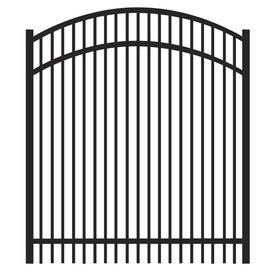 FREEDOM Black Aluminum Fence Gate (Common: 48-in x 48-in