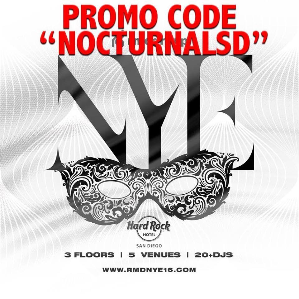 Hard Rock NYE 2016 Tickets San Diego Discount Promo Codes