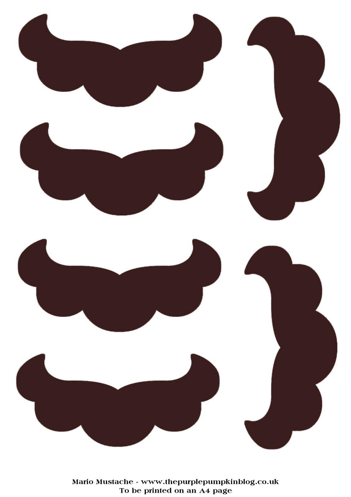 Mario Moustache Disguise - Nintendo Party  5b8db80ebff