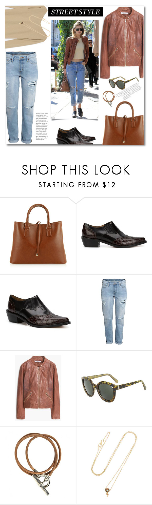 """Cool and casual"" by gifra ❤ liked on Polyvore featuring Ganni, MANGO, Topshop, Hermès, IaM by Ileana Makri, women's clothing, women, female, woman and misses"