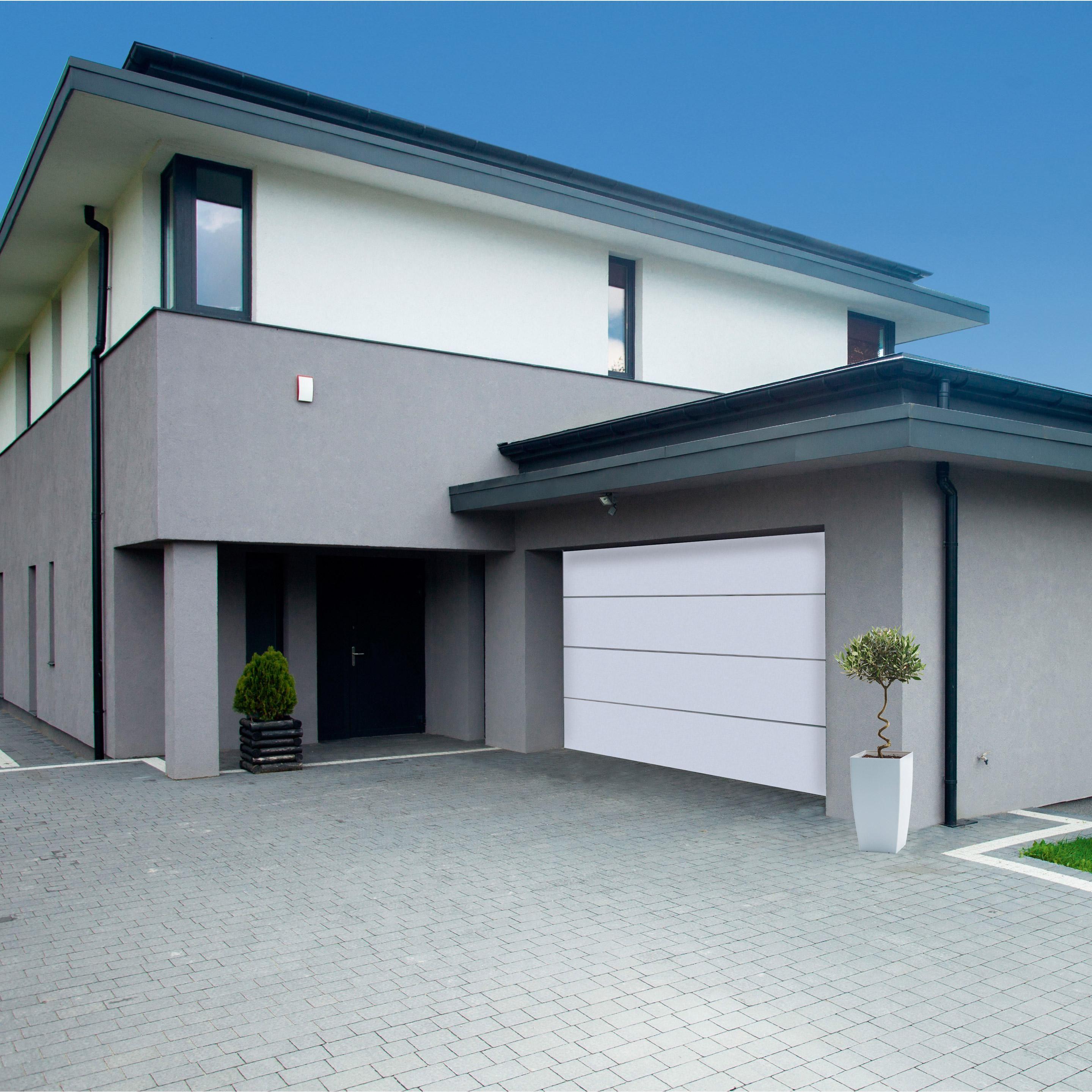 Porte De Garage Sectionnelle Motorisee Artens Premium H 200 X L 300 Cm Porte De Garage Sectionnelle Porte Garage Et Garage