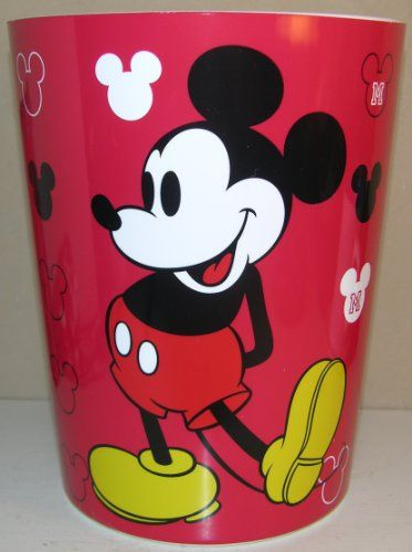 Disney Mickey Mouse Bathroom Trash Can