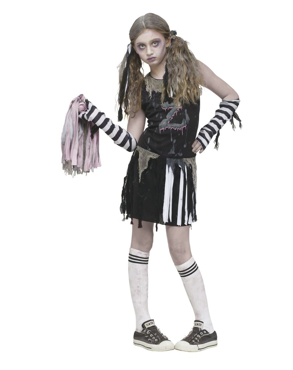 zombie cheerleader girls costume give me a b give me a r give me a i n s