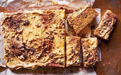 Coffee and walnut traybake recipe