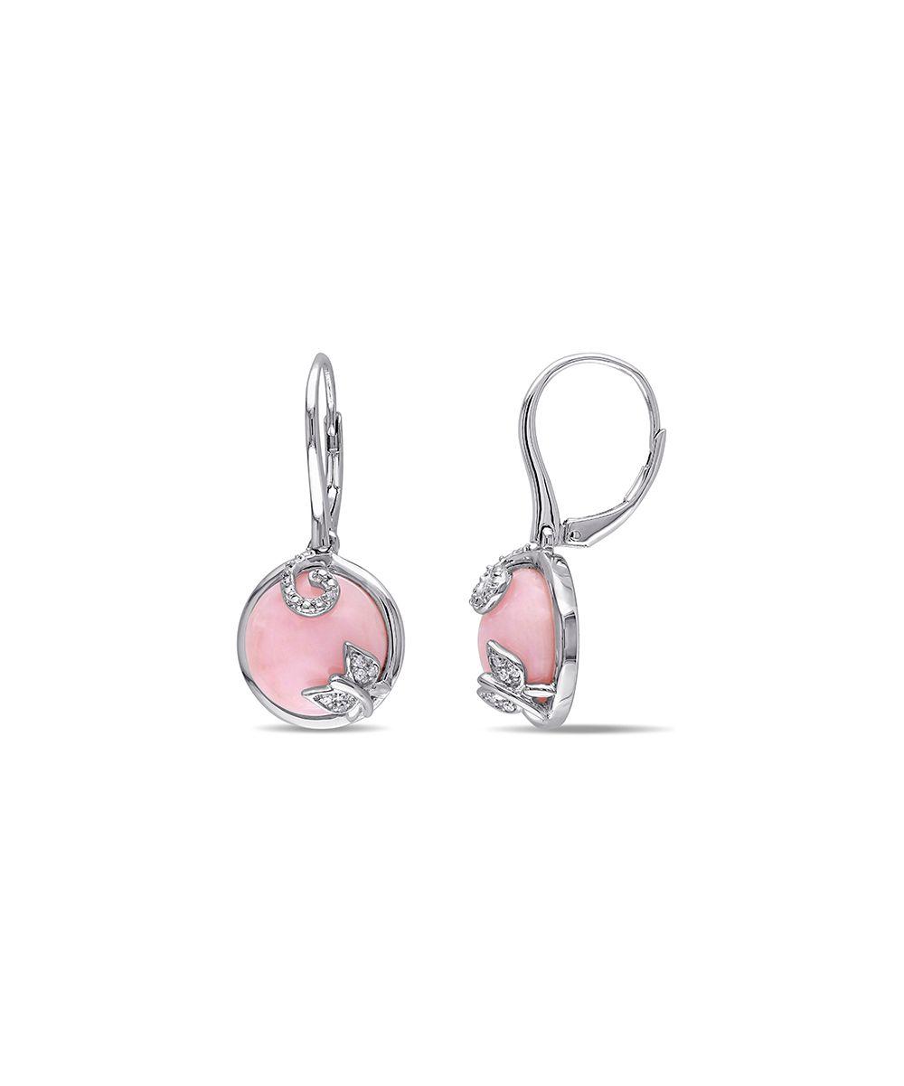 Pink Opal & Diamond Drop Earrings   zulily