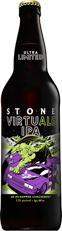 Stone Brewing Adopts First Use Technology To Hop The New Stone Virtuale Ipa Beer Bottle Ipa Bottle