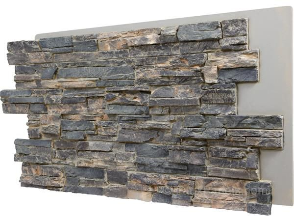 Faux Panels That Replicate The Look Of Real Stacked Stone With Quiet Earth Tones To Make