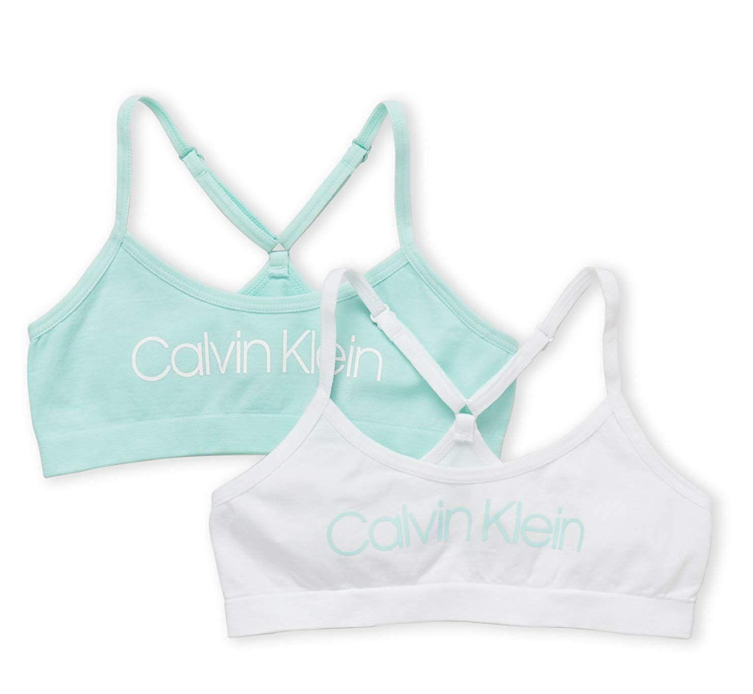 618ea3f3e2 Calvin Klein Big Girls  Seamless Racerback Crop Bra (Pack of 2 ...