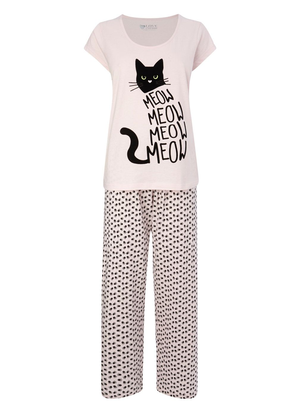 Multi Pink Meow Cat Pyjamas - pyjamas - nightwear - Women- BHS Girls Pajamas  8505edbd7