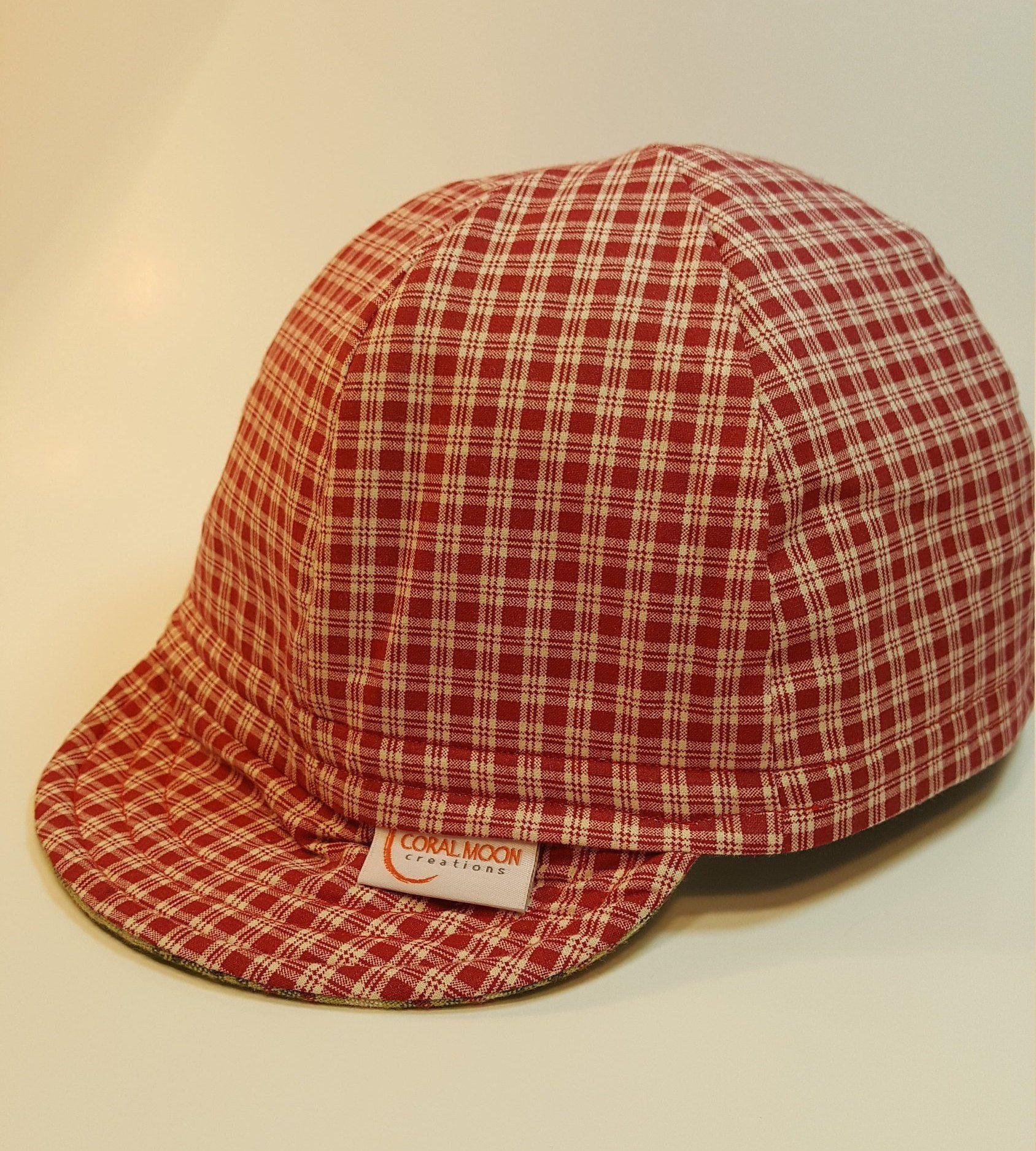 4e846baf13a7f Reversible Plaid Cotton Custom Cap is a great Welding Cap, Cycling Cap,  Biker Cap