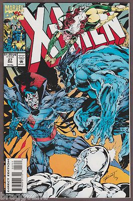 Autographed 1992 Marvel X-MEN #27 comic book SCOTT HANNA Autograph ARTIST