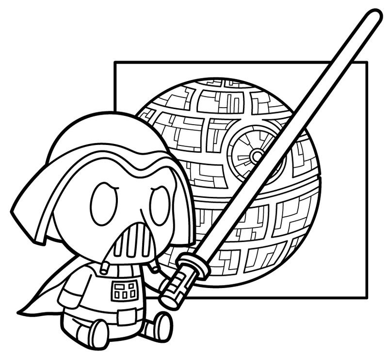 Isaac Marzioli illustrations Lil' Darth Vader Star