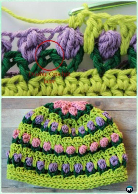 Crochet Girl Tulip Flower Hat Free Pattern Instruction- #Crochet ...