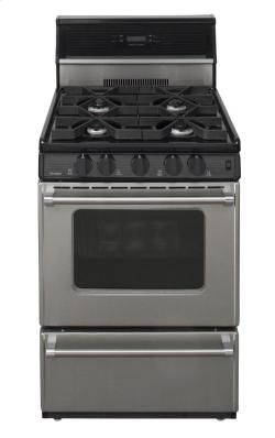 24 In Freestanding Sealed Burner Gas Range In Stainless Steel Made In Usa Gas Range Oven Burner Iron Grate