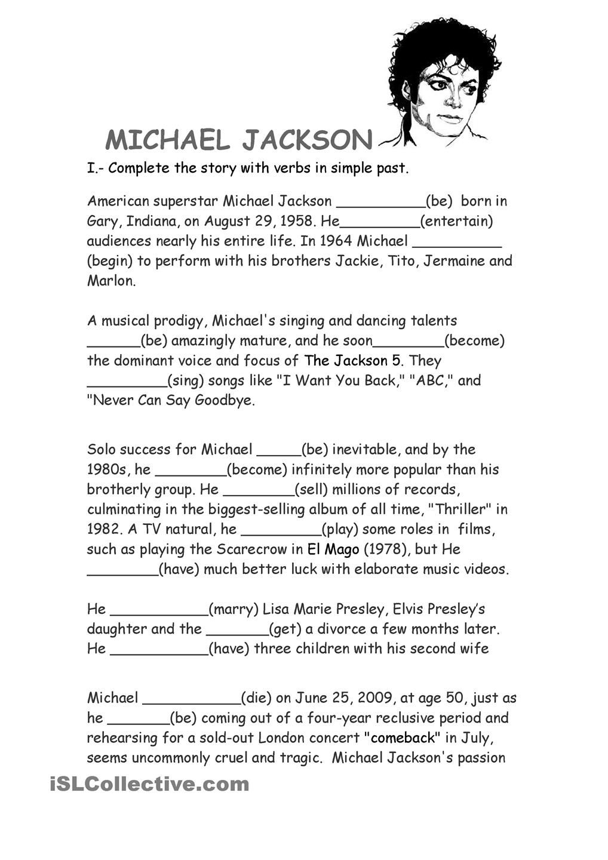 Michael Jackson Biography Michael Jackson Biography Reading Comprehension Michael Jackson [ 1440 x 1018 Pixel ]