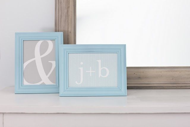 Initials for Bedroom