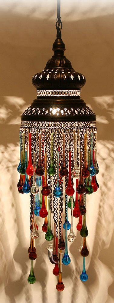 ledecorquejadore: Turkish lamp with glass pendants (via Ottoman Chandelier ♥ | Charming Detail (dekorasyon))