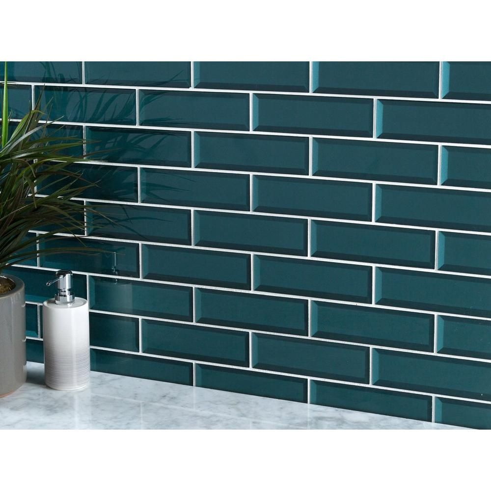 Royal Peacock Glass Wall Tile In 2020 Glass Wall Blue Glass Tile Wall Tiles