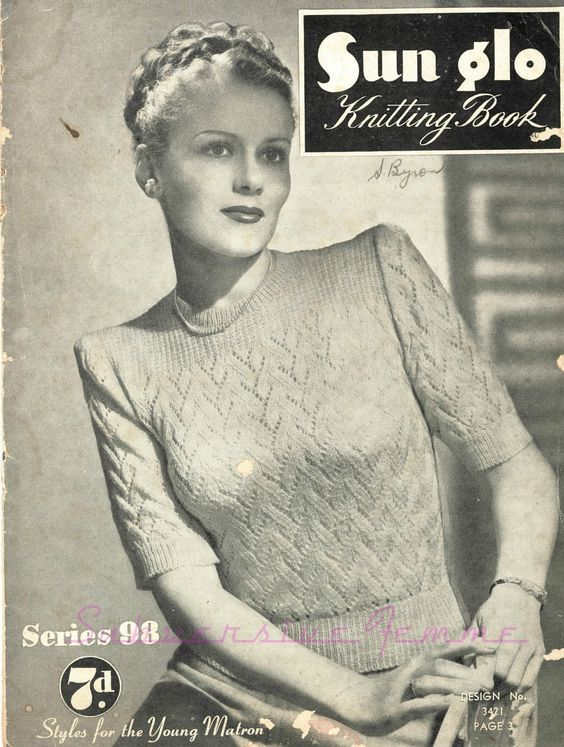 Plus Size Free Vintage Knitting Pattern Larger 1940s Jumper Sweater