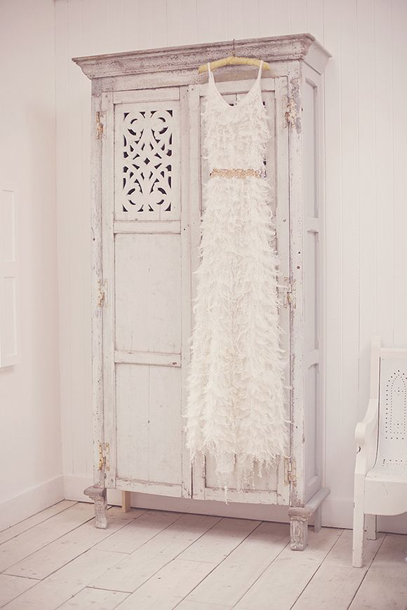 Feather Details On Gown Shabby Chic Wardrobe Shabby Chic Pink