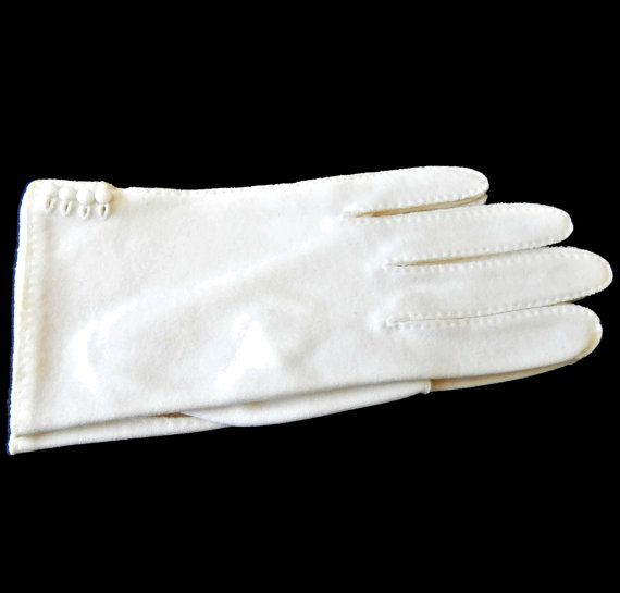 Fownes Gloves Ladies Size 7.5 Glass Buttons Cotton