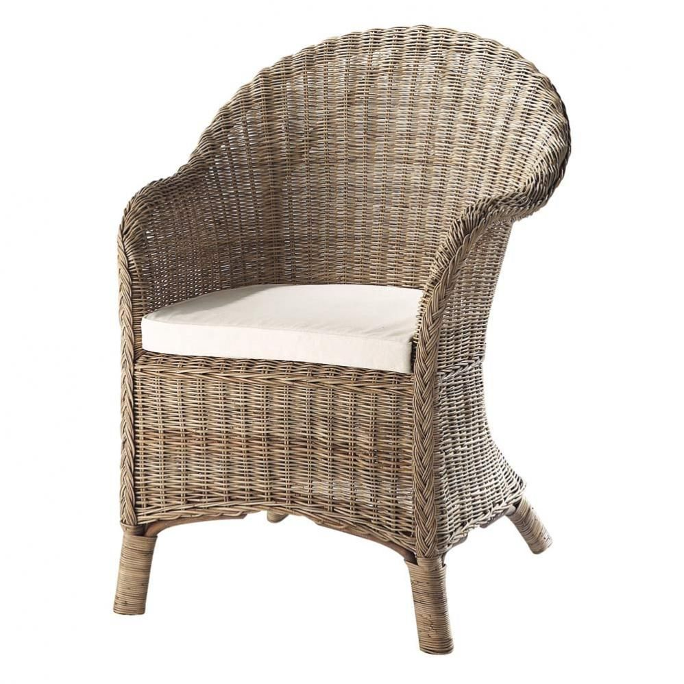 Fauteuil Rattan Armchair Country Style Decor Affordable Furniture