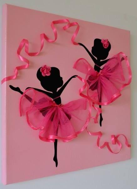 Dancing Tutu Ballerina Canvas Wall Art Diy Crafts Pink Wall Art