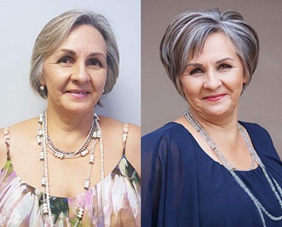 Pin Em Cabelo E Maquiagem Para Senhoras