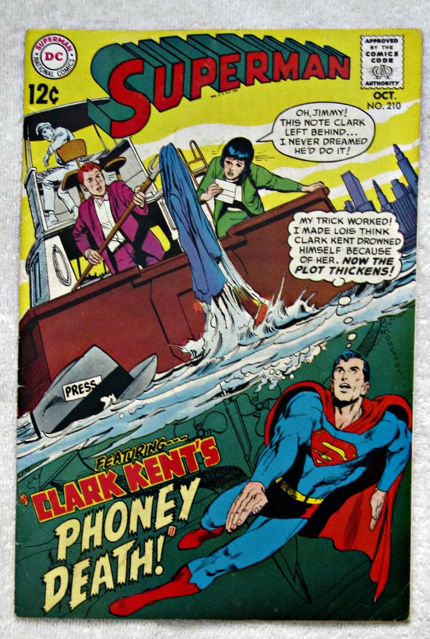Superman 210 Oct 1968 DC Fine 55