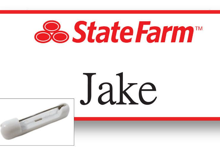 1 Jake From State Farm Halloween Costume Name Badge Tag With A Pin Fastener Ships Free By Badgelady117 Jake From State Farm Halloween Costume Names State Farm