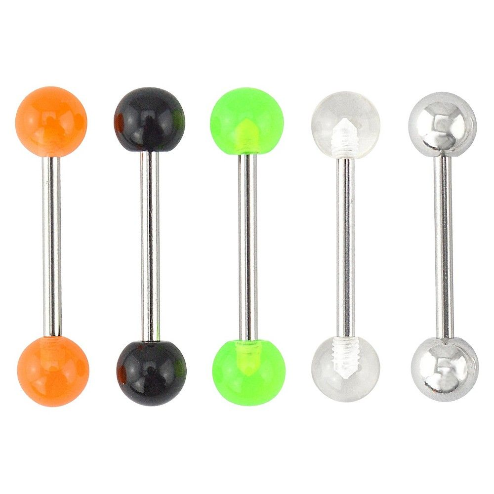 Supreme Jewelry Barbell Tongue Ring Set of   Multicolor Womenus